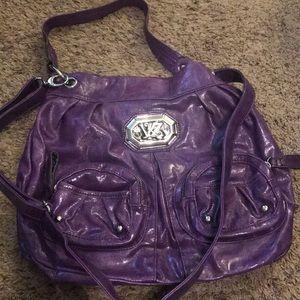 Purple leather kathy van zeeland purse